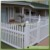 "42""/48""highx8ft wide white color wide picket top PVC/Vinyl garden fence"
