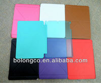 PC+leather case for ipad air ultra-thin triangle flip tablet case for ipad 2/3/4/air/air 2 wholesale