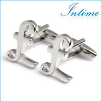 Novelty Pound Sign Metal Mens Cufflinks