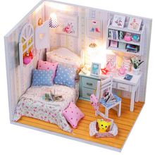 Wholesale DIY Handmade New Design Miniature Your Dream Room Toy Doll House Model with Light and Furniture