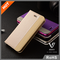 High quality wallet leather case with Credit Card slot and magnet for iPhone6s
