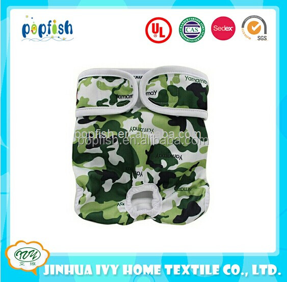Popfish Washable Pet Diaper Pants Incontience Microfiber Absorbency Dog Nappy