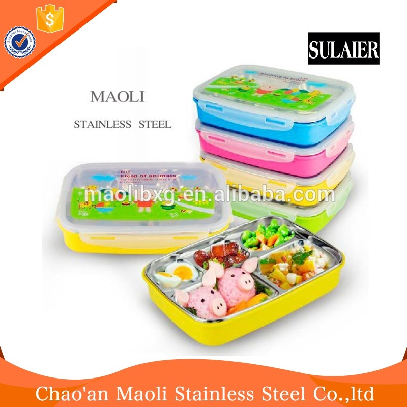Pollution Free Hot Lunch Box Keep Food Insulated Container For School