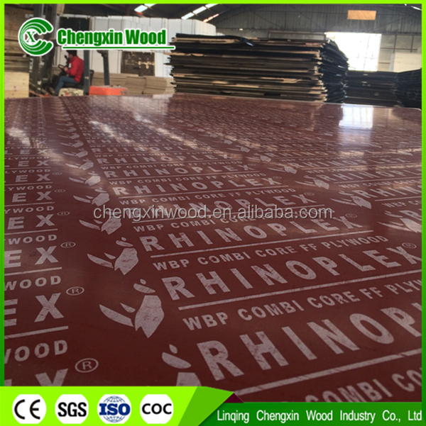 marine plywood 18mm construction material, waterproof brown film faced plywood, concrete formwork plywood cheng xin