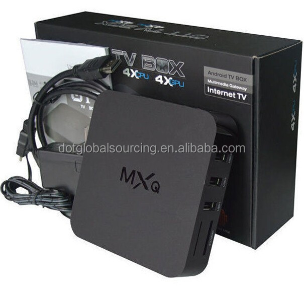 MXQ Amlogic Android 4.4 Smart WiFi S805 Quad Core TV Box