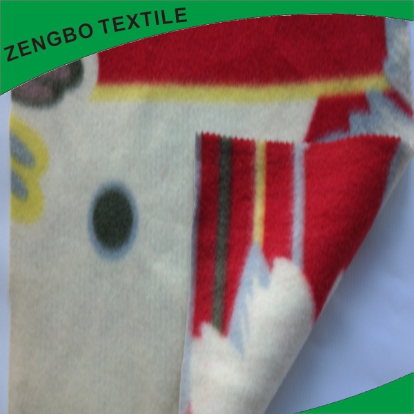 New design canadian printed fleece fabric with low price