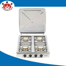 4 burner Kitchen gas range cooker 80cm
