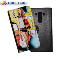 Sublimation Leather Flip Mobile Phone Case for LG G3 Sublimation Heat Transfer Printing Leather Cover