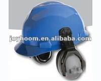 safety helmet with face shield and Hearing protection