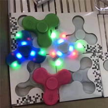 ABS Plastic Fidgets Toys LED Speaker Gyro Toys With Retail Box Hand Spinner Finger Toys for Fun