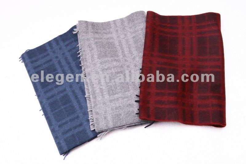 MEN CASHMERE/PASHMINA CHECKED PATTERN SCRAVES