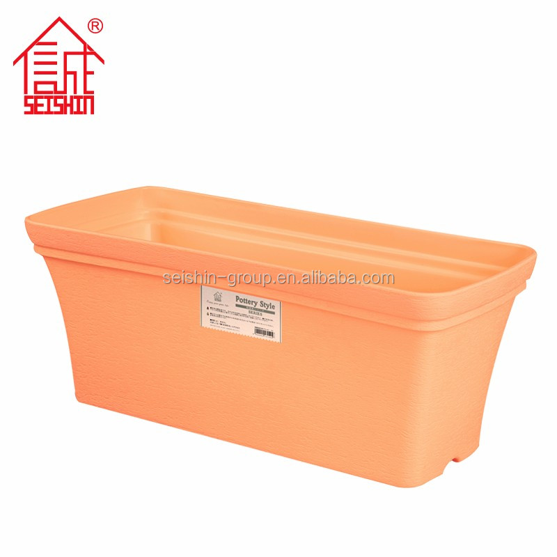 Attractive Lovely Gardening Products Rectangular Plastic Flower Pots