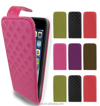 PU Leather Wallet 3D Top Flip Case Cover For iPhone 5&5S mobilephone