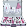 18 pcs hot sale high quality lady pink tool sets for promotion gift