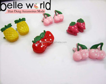new fashion wholesale cute baby fruit mini hair claw clips for baby