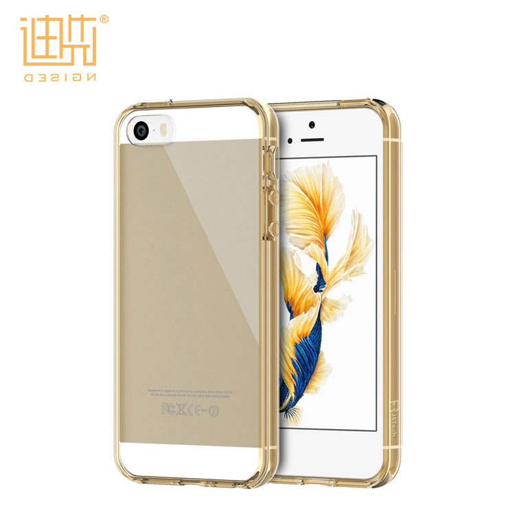 2017 Best Selling Lightweight easy carrying Grey Gold Orange clear soft tpu case for iPhone5/5s/se