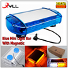 New Blue 24 LED Mini Light Bar Strobe LED flashing lightbar used Emergency Warning Beacon With Magnet 12-24V