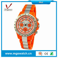 Popular fashion silicone jelly candy wrist watch with different color