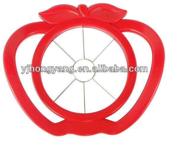 colorful plastic apple cutter and corers for kitchen gadget stainless steel blade