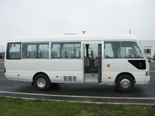 Classic diesel like Toyota coaster bus with good quality