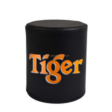 Personalized Leather Dice Cup with colorful logo