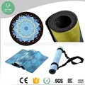 Eco-friendly Absorbent Anti Slip Printed Rubber round Yoga Mat