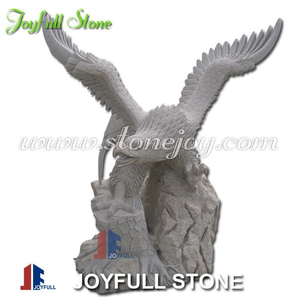 Hand-carved Granite Eagle Statues, Eagle Sculptures