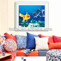 2014 CHINESE EMBROIDEY KITS FISHS DIMENSION 3D CROSS STITCH SCHEMES PAINTING, HOT SALE ANIMAL PAINTINGS FOR LOVE