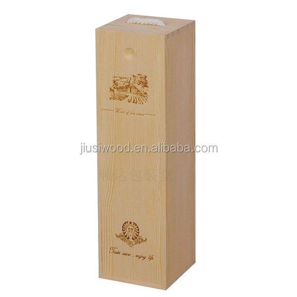 Customized Single Bottle Wine Wooden Box