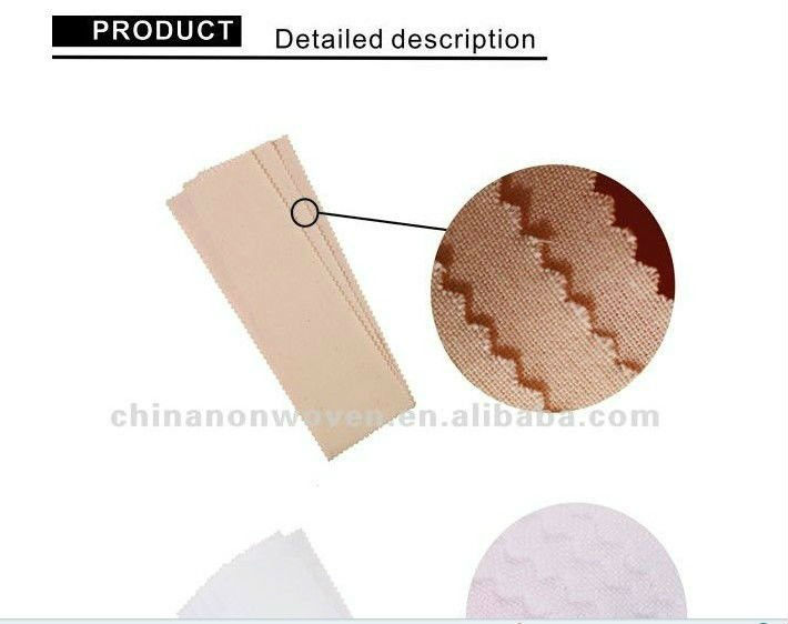 Unbleached cotton depilatory wax strips in roll