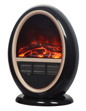 Attractive round decorative electric fireplace