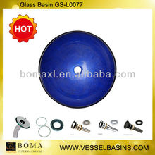 Ocean Blue Glass Sanitary Ware For Bathroom
