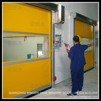 Electric automatic opening cheap price plastic transparent roller shutter garage door