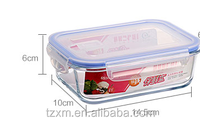 BPA FREE Rectangle glass lock vent oven safe storage container