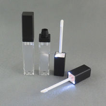 TM-LG7160 Square lip gloss package LED light lip gloss bottle container with mirror on one face