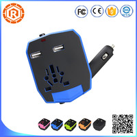 universal power adapter travel converter au eu uk with car usb charger