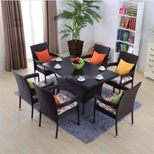 Wholesale Outdoor Resort Wicker Rattan Furniture Patio Set Modern Coffee Shop Table And Chair Furniture (Z564)