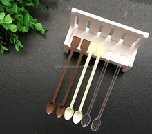 13cm Length PS Plastic Coffee Stirring Scoops Disposable Small Coffee Scoops Clear Yellow Coffee Colors