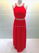 Red 2017 Women Fashion Chiffon Evening Dress