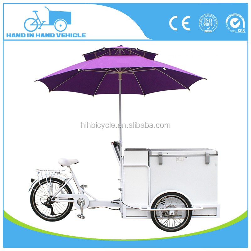 Commercial Tricycle cargo bike 6 speeds adult ice cream box