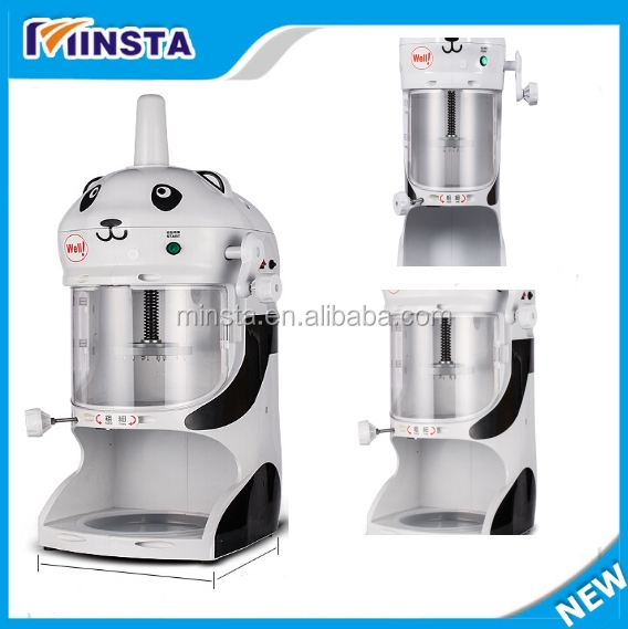 Top brand ice cream shaver/snow ice shaver machine/ ice shaving machine with discount