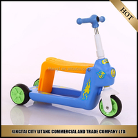Blue color kids 3 wheel scooter for child
