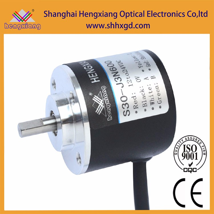 12v dc motor 3000rpm bearingless encoder 100p/r rotary encoder 30mm ip65