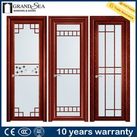 Australia standard multi track glazed ventilated entry doors with IS9001 certification