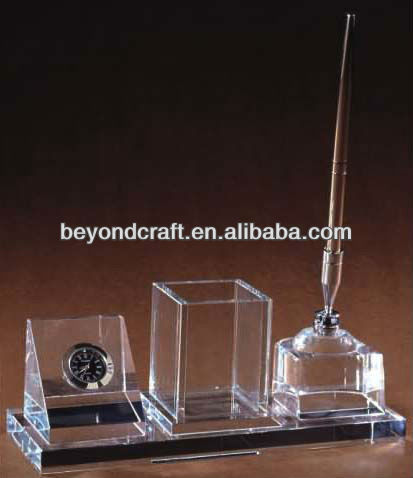 Excellent quality crystal office set gifts for company