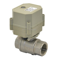 1''2- way ss304 electric shut off water ball valve for water meter