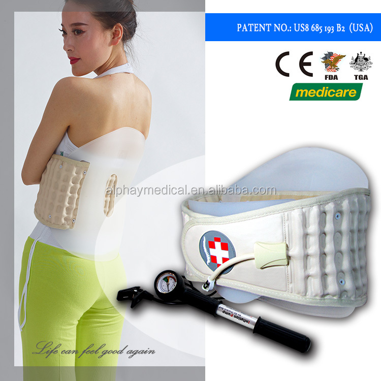 Alphay Medical Band Lumbar Traction Back Pain Relief By Lifting The Users Torso As Seen On TV