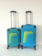 hand tooled patent leather luggage