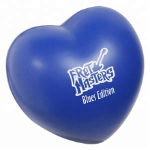 Custom Promotional Printing Logo Heart Shaped Stress Ball