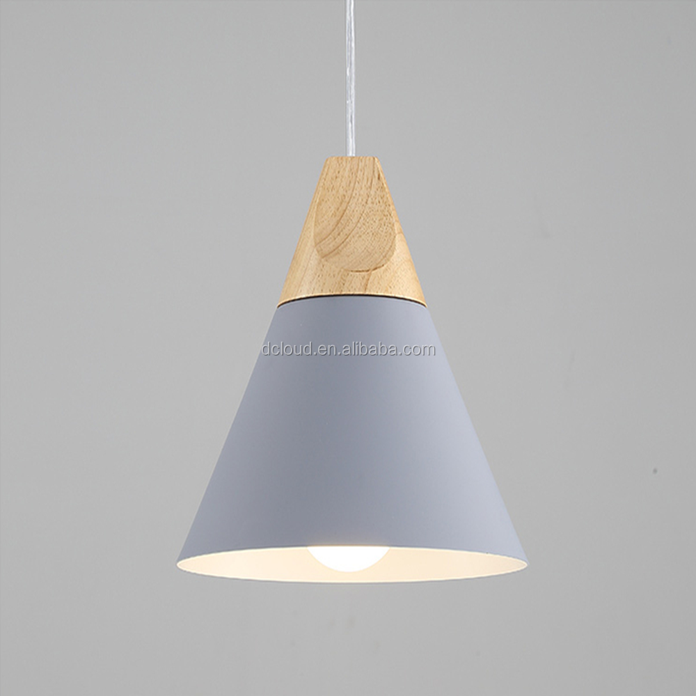 aliexpress hot selling pendant lamp modern Colorful <strong>Lighting</strong> light fixture Wood Holder pendant light